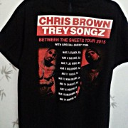 Chris Brown T Shirt Back