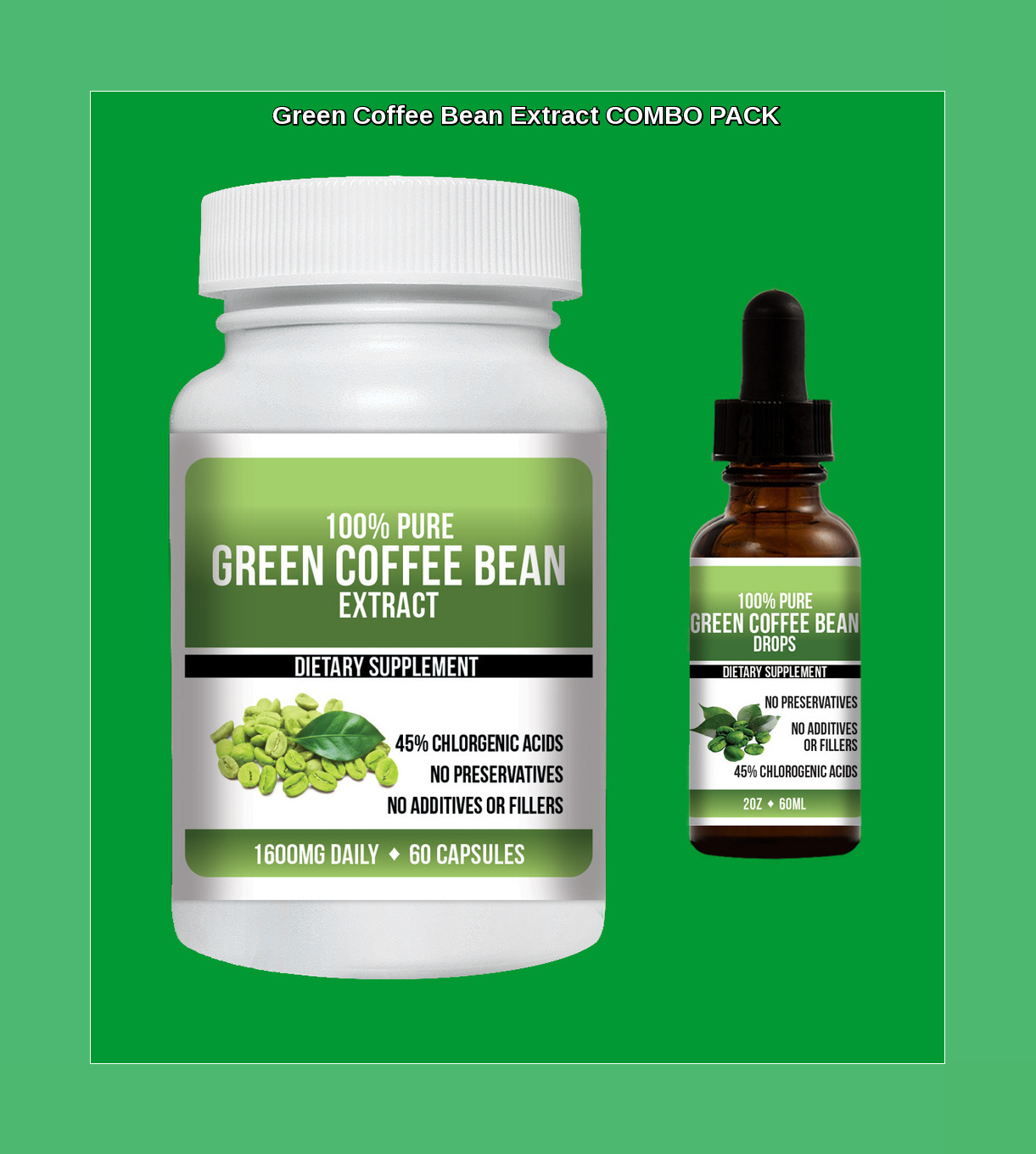 Green Coffee Bean Extract 45 Chlorogenic Acid Drops Weight Loss