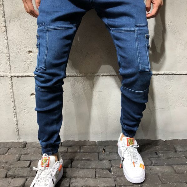 Monocloth Men's Cargo Jogger Jeans Pocket Details