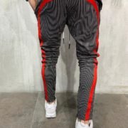 STRIPED SWEATPANTS RED SIDE BACK