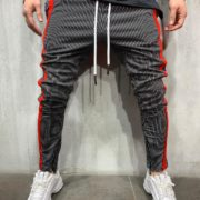 STRIPED SWEATPANTS RED SIDE FRONT