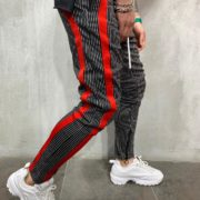 STRIPED SWEATPANTS RED SIDE SIDE